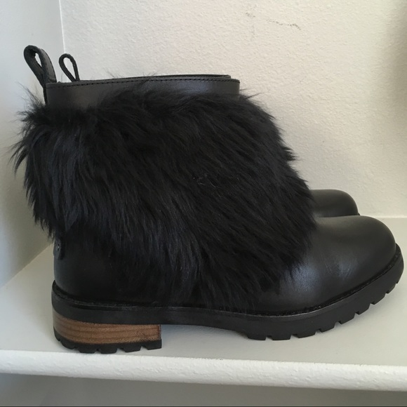 Ugg otelia Fluff Fur Leather Short Boots Booties. M 5c3fc3ce12cd4a0d9275261c d31276e94